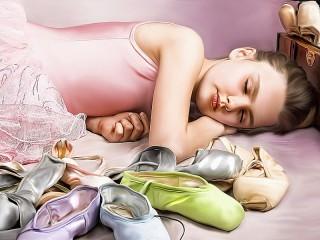Собирать пазл The sleeping ballerina онлайн