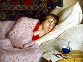 Собирать пазл Sleeping girl онлайн