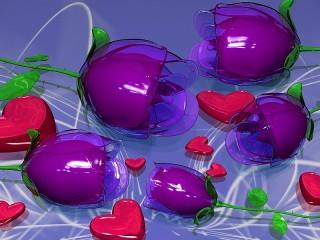 Собирать пазл Glass tulips онлайн