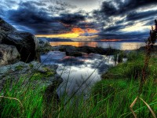 Собирать пазл Sunset twilight онлайн