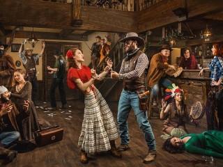 Собирать пазл Dancing with a cowboy онлайн