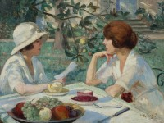 Собирать пазл Tea party in Garden онлайн