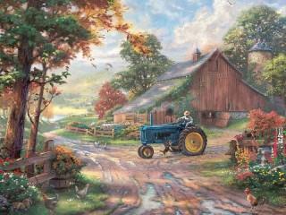 Собирать пазл Traktorist онлайн