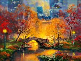 Собирать пазл Central park онлайн