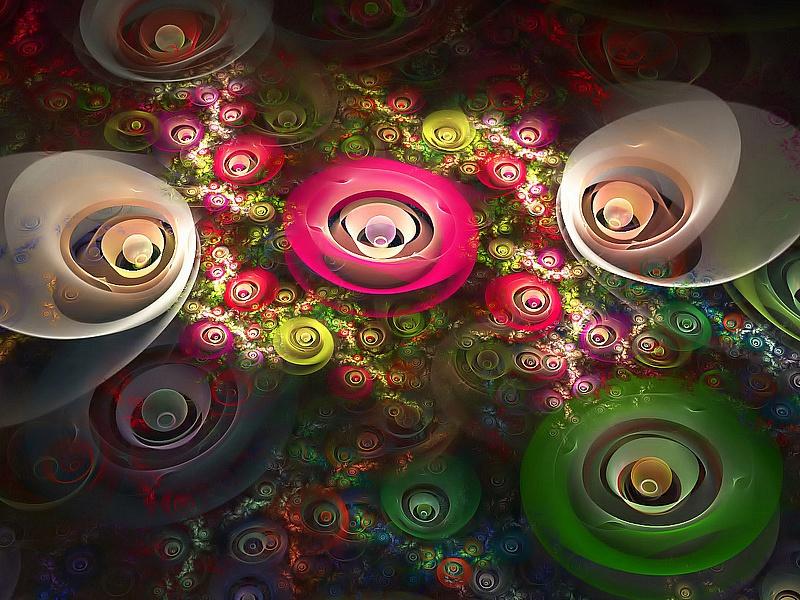 Puzzle Sammeln Puzzle Online - Tsveti-abstraktsii