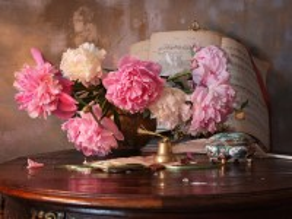 Собирать пазл Flowers and notes онлайн