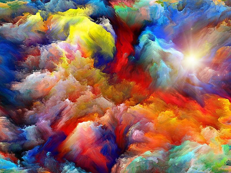 Puzzle Sammeln Puzzle Online - Tsvetnie oblaka