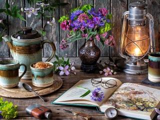 Собирать пазл Floral still life онлайн