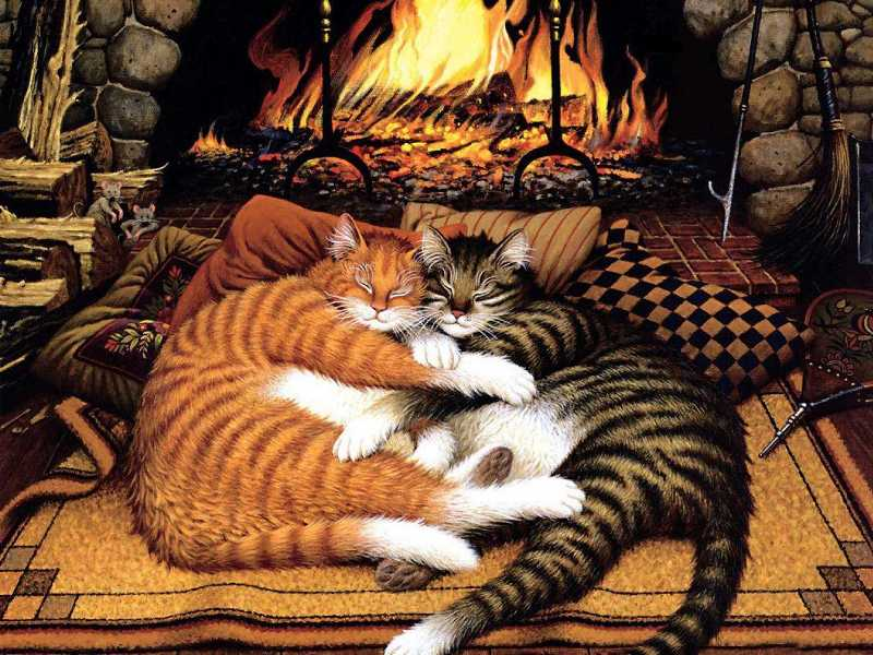 Puzzle Sammeln Puzzle Online - At the fireplace