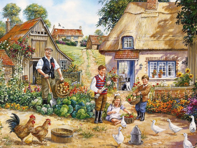 Puzzle Sammeln Puzzle Online - Visiting the grandpa