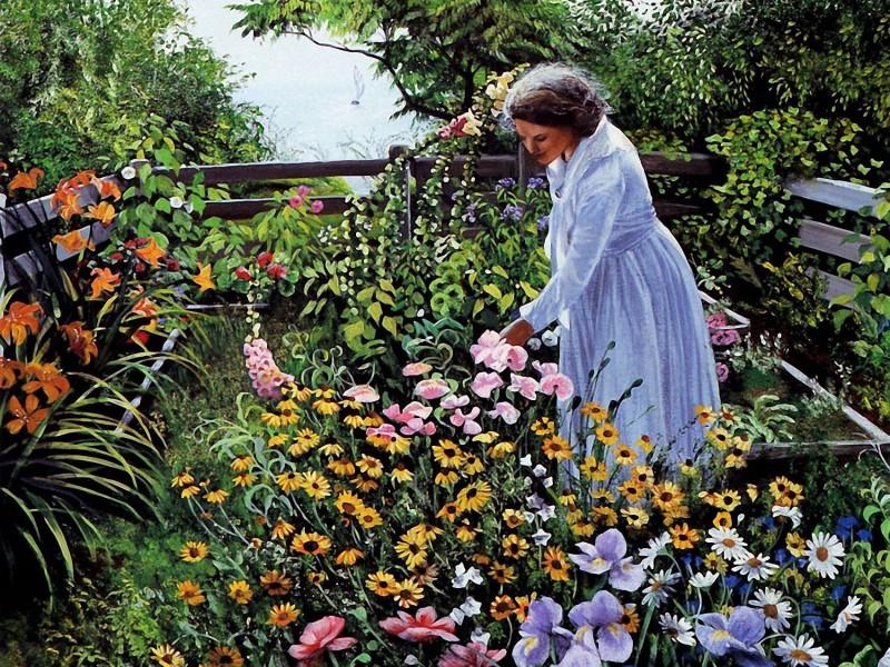 Puzzle Sammeln Puzzle Online - In the own garden