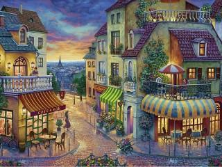 Собирать пазл Evening in Paris онлайн