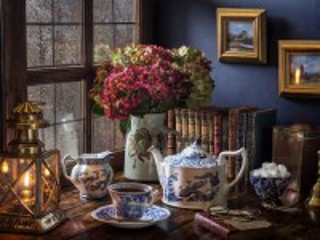 Собирать пазл Evening tea онлайн