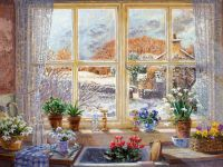 Собирать пазл Spring on the window онлайн