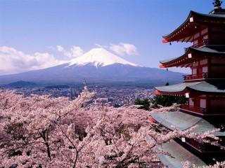 Собирать пазл View of mount Fuji онлайн