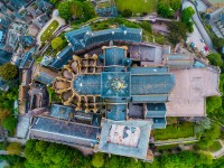 Собирать пазл View of the castle from above онлайн