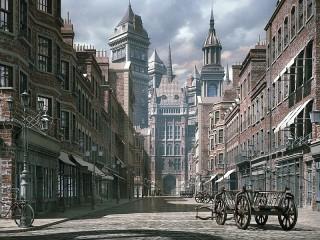 Собирать пазл Virtual city онлайн