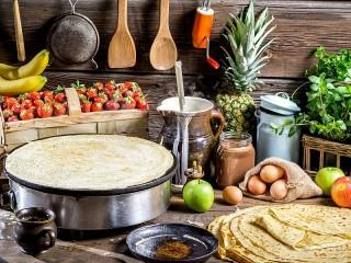 Собирать пазл Tasty pancakes онлайн
