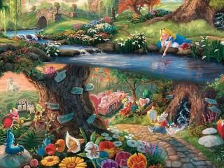 Собирать пазл The magical world of Alice онлайн