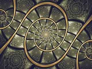 Собирать пазл The meeting spirals онлайн