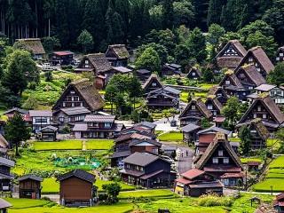 Собирать пазл Japanese village онлайн