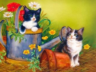 Собирать пазл Funny kittens 1 онлайн
