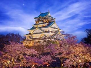 Собирать пазл Osaka castle онлайн