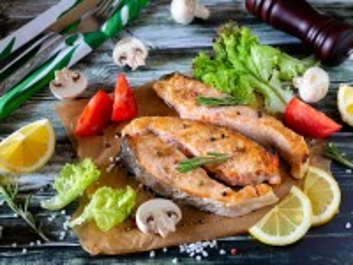 Собирать пазл Fried fish онлайн