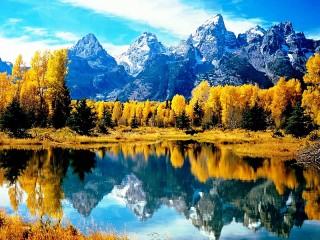 Собирать пазл Autumn in mountains онлайн