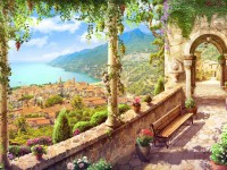 Собирать пазл Scenic terrace онлайн