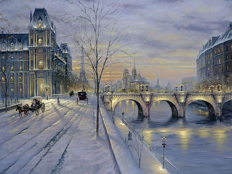 Puzzle Sammeln Puzzle Online - Zima v Parizhe