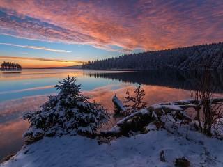 Собирать пазл Winter twilight онлайн