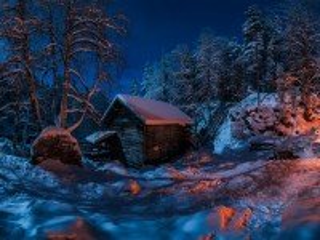 Собирать пазл Winter night онлайн