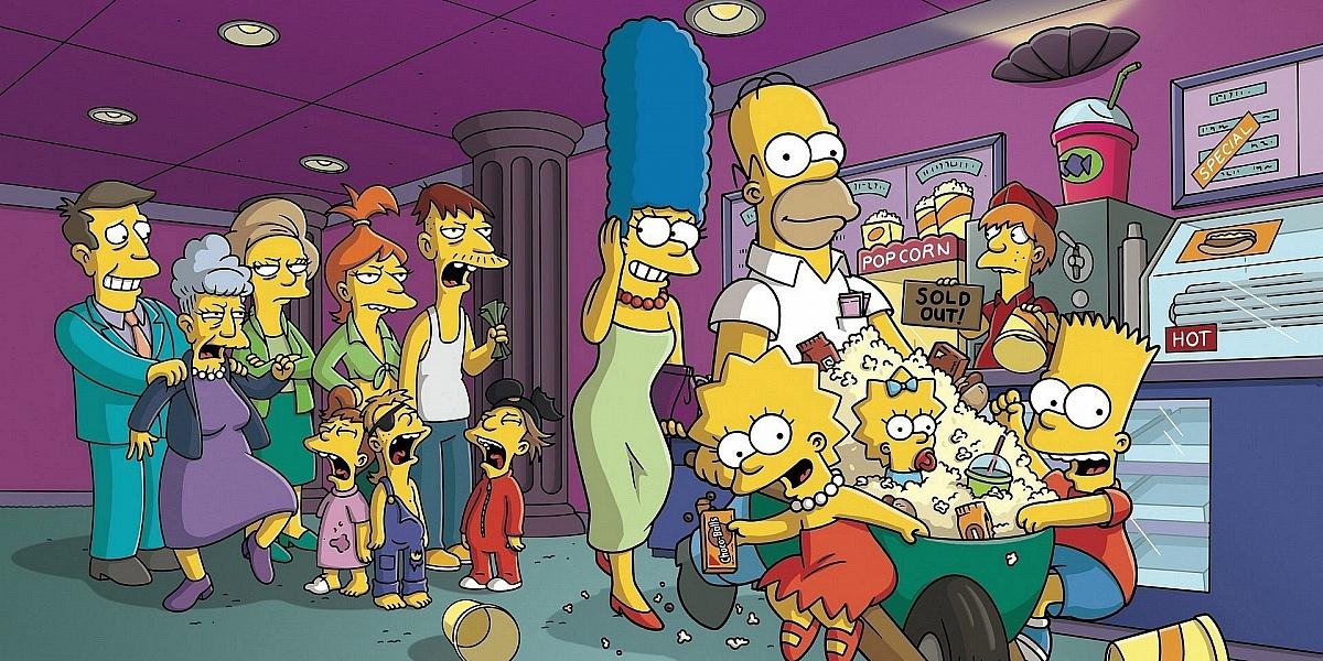 Puzzle Sammeln Puzzle Online - Simpsoni v kino